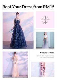 Rent Evening Gown/ Dinner Dress/ Maxi Dress /Long Dress/ Prom Dress  from RM15 #July70