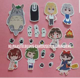 Studio ghibli Fanart stickers (set)