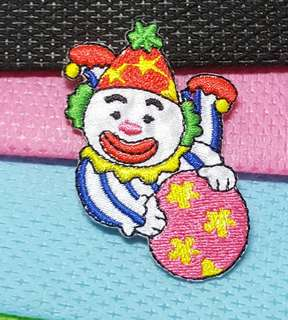 Iron On Patch/ Applique   ↪ Clown/ Circus 💱 $2.00 Each Piece