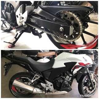 Honda cb400x afam sprocket kit