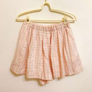 🚚 粉紅格紋褲裙 #女裝半價拉