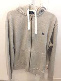 Polo Ralph Lauren灰色綿質外套M碼 95%新