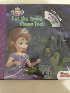 Disney sofia the first storybook and DVD