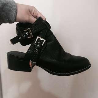 Sportsgirl ankle strap boots