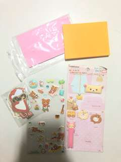 Stickers//Post its rilakkuma