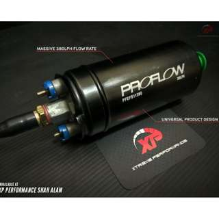 External Fuel Pump PROFLOW 380LPH Black Tail