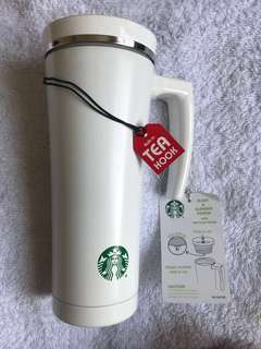 Starbucks Thermal Tumbler with Tea Hook. FREE SHIPPING MM