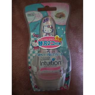 🚚 Hello Kitty Schick Intuition Shaver (Limited Edition in Japan) - plus 1 razor