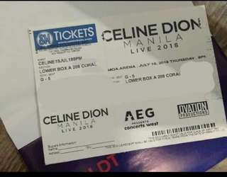 LOWER BOX A, CELINE DION CONCERT