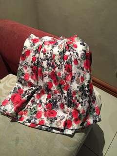 Bubble Floral Skirt (Silk)