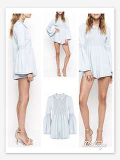 Alice McCall night is young Playsuit light denim