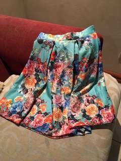 Bubble Floral Skirt - Silk