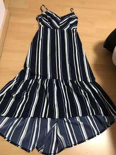 TEMT striped high Low dress