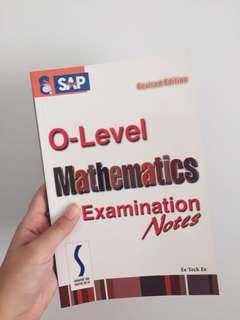 Mathematics Examination Notes