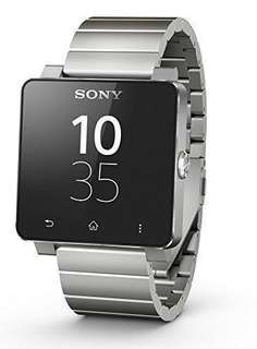 New 全新 鋼帶 SONY SW2 Smart Watch 2 智能手錶 IP57 兼容Android系統 silver stainless steel metal strap