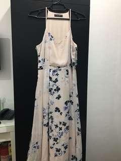 Dorothy Perkins Peach Floral Long Dress