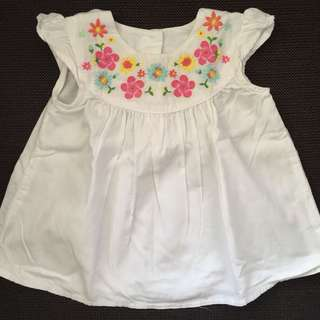 Mothercare White Shirt 3-6M