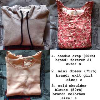 hoodie f21, cardigan mango basic, dress exit girl