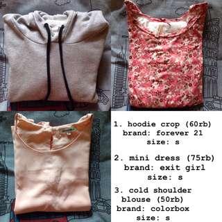hoodie f21, cardigan mango basic, dress exit girl