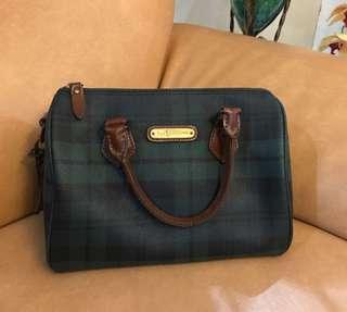 5412e12e473a Authentic Ralph Lauren Blackwatch Green Vintage Plaid Leather Bag - Speedy  35