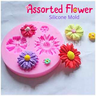 🌺 ASSORTED FLOWER SILICONE MOLD
