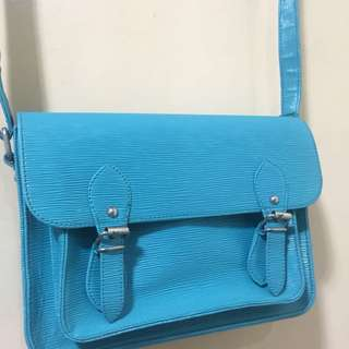 Blue Satchel Bag
