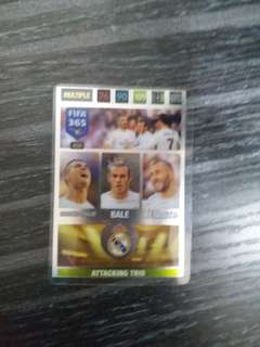 Panini FIFA 365 trio Real Madrid BBC