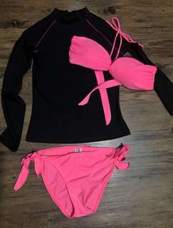 Coco cabana rashguard and swimsuit