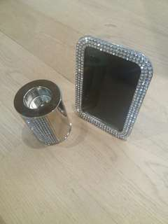 Sparkling Photoframe and Candle Holder