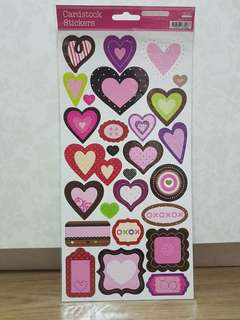 KCK Craft Cardstock Stickers (Hearts)