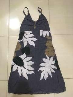 Grey flower summer dress