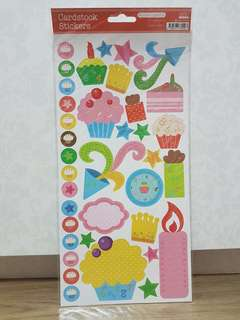 KCK Craft Cardstock Stickers (Cakes)