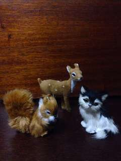 Furry Animal Toys Set