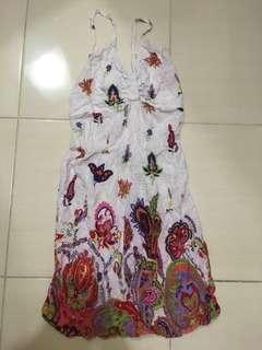 White flower summer dress