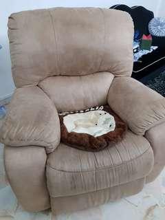 Suede Single Recliner Sofa