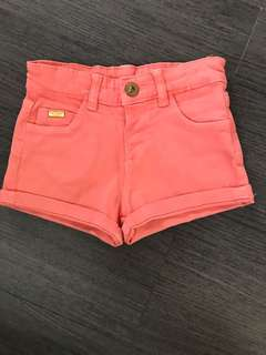Zara Baby Orange Shorts
