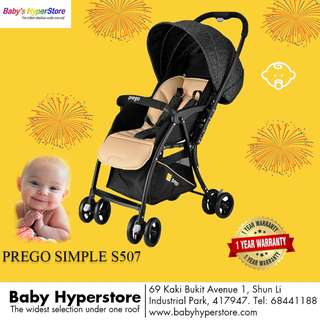 [FREE DELIVERY!!!!!] [CHEAPEST EVERRRRRR!!!!]Prego S507 Simple Reversible Handle Stroller ★  Ideal from NEWBORNS to 18kg ★LOCAL seller warranty