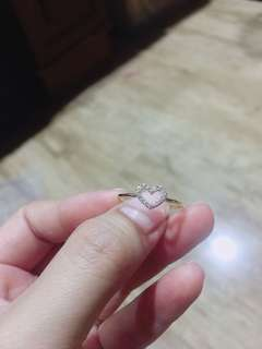Japan Gold heart Ring 18K