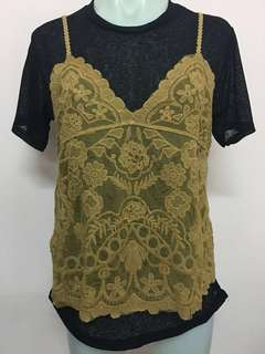 New Embroidery Lace Top#July70