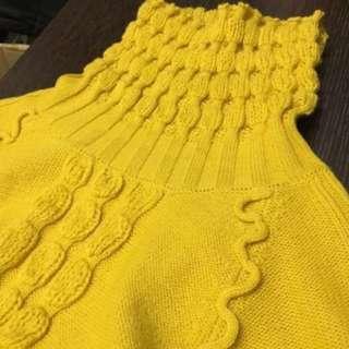 🚚 全新芥末黃厚針織毛衣#女裝半價拉