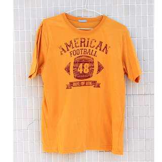 🚚 日本 古著/日本帶回 美國 美式足球 黃色 短T 頑皮古著