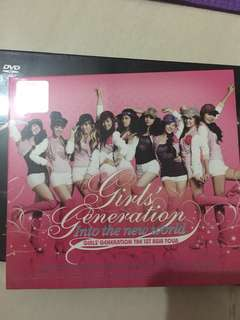 SNSD ALBUM [SNSD/ GIRLS' GENERATION] INTO THE NEW WORLD LIVE CONCERT THE 1ST ASIA TOUR (mp3 cd)