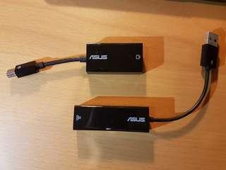 VGA and LAN dongle