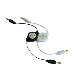 3.5mm male to male Aux Auxiliary Car retractable audio cable adapter
