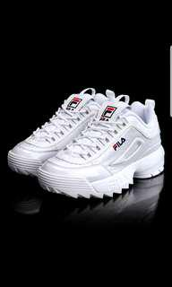 FILA] FS1HTZ3076X DISRUPTOR 2 Heritage Women Shoes Sneakers Enamel White