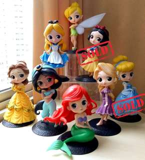 DISNEY PRINCESSES: Cute toy figures collection K.O. Qposket