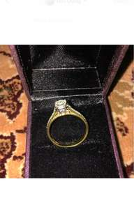 Huge gold diamond ring #July100
