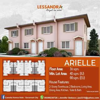 Affordable house and lot in Camella LESSANDRA Iloilo - ARIELLE