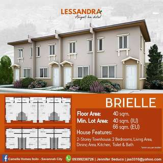 Affordable house and lot in Camella LESSANDRA Iloilo - BRIELLE