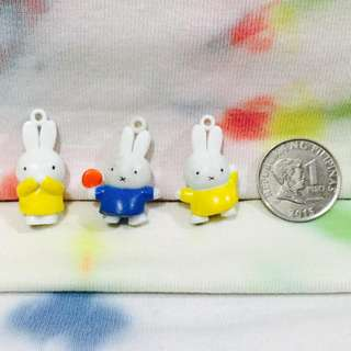 Miffy Rabbit Charms -3 Pcs